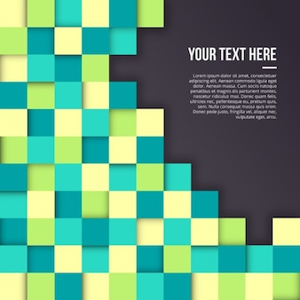 Background with squares in different colors