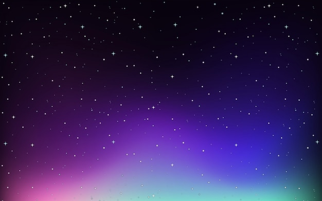 Background with stars in the sky