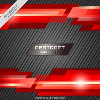 Background with stripes and red abstract shapes