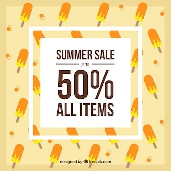 夏の販売とアイスクリームの背景