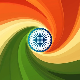 Background with swirl on indian flag colors
