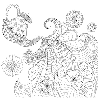 Background with tea pot design