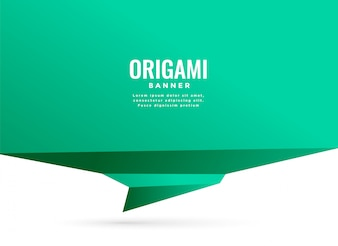 Background with turquoise origami chat banner