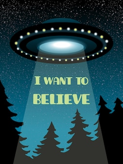 Background with ufo