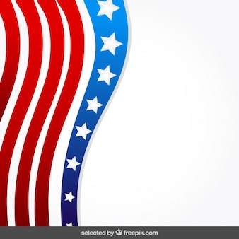 Background with United States flag