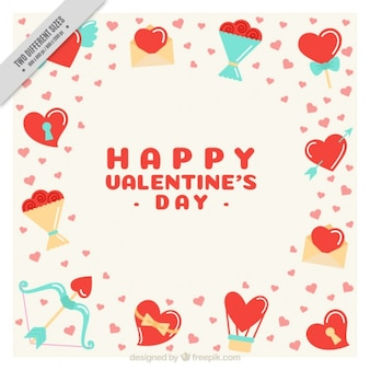 Background with valentine elements