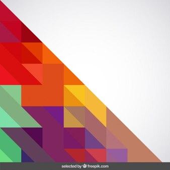 Фон с яркими цветами треугольников