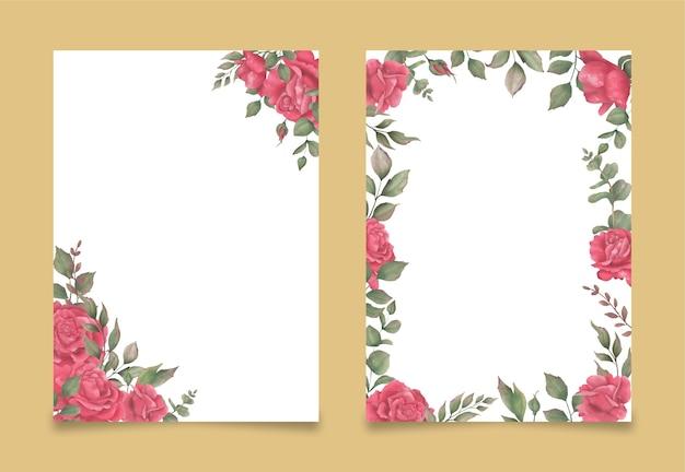 水彩画の花の花束と背景