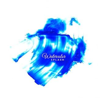 Синий watrcolor дизайн всплеск