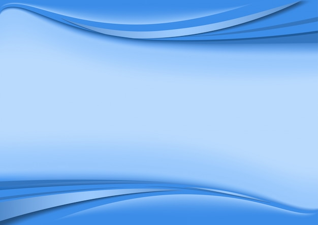 Background with wave stripes in blue tones