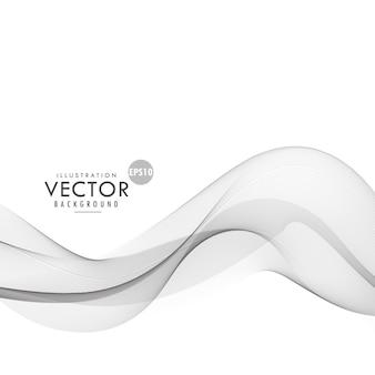 Elegante grigio forma ondulata sfondo vettoriale