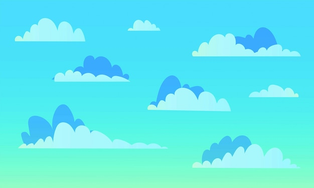 Background with white clouds on blue sky