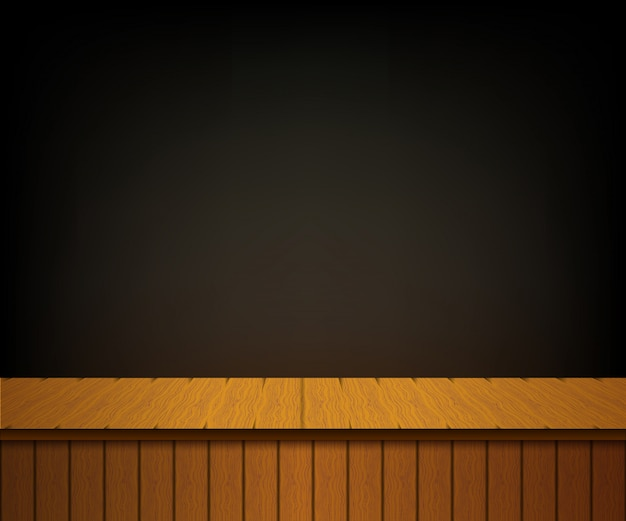 Background with wooden theater scene.