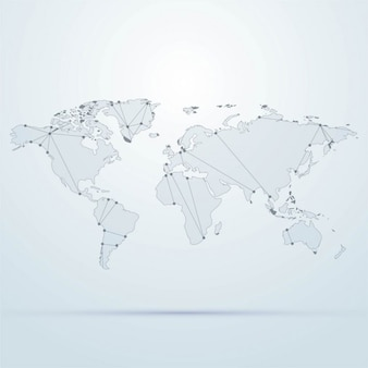 Background with a world map