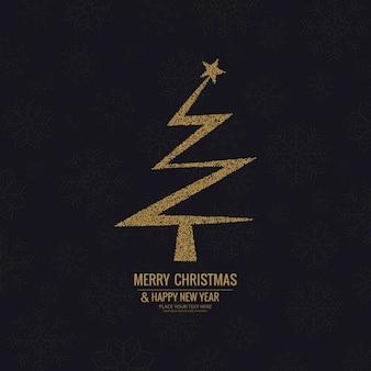 Background with a zig zag christmas tree