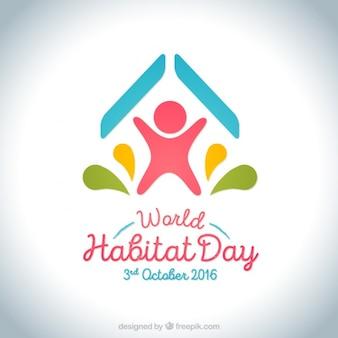 Background of world habitat day with modern design