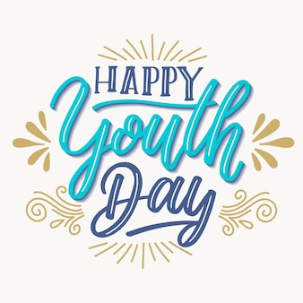 Background youth day lettering