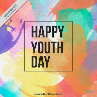 Sfondo per giorno i giovani con acquerelli