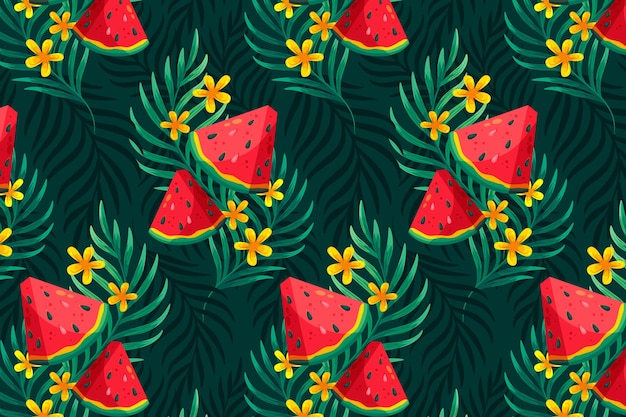 Background for zoom with summer pattern