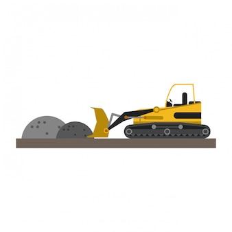 Backhoe loading gravel