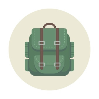Backpack camping icon for outdoor travel
