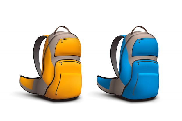 Backpack colored set
