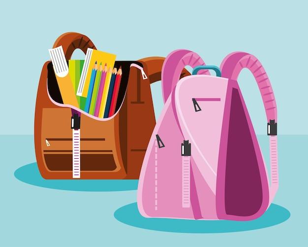 Рюкзак школьные принадлежности