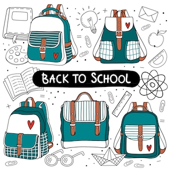 Backpack set for back to school