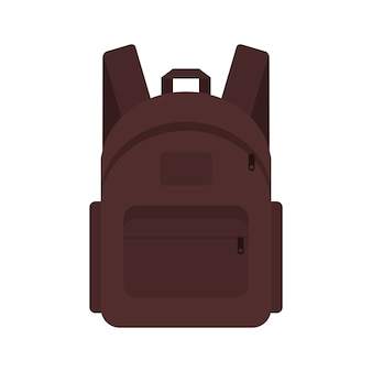 Backpack traveler marching student briefcase.