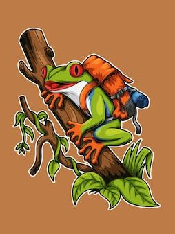 Лягушка дерево backpacker