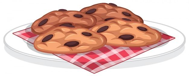 白backroundで分離されたクッキーの甘いデザート