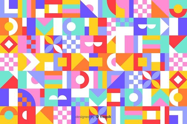 カラフルな幾何学的なモザイクタイルbackround