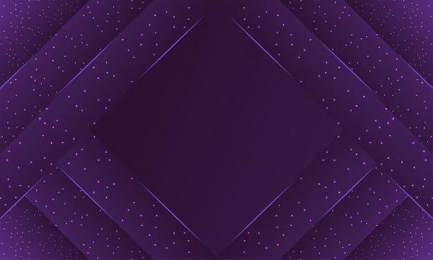 きらめきの詳細と暗い紫色の紙層backround