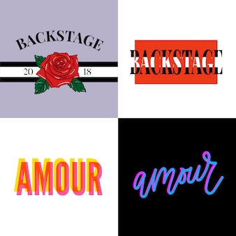 Backstage amour slogan