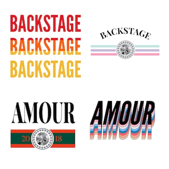 Backstage amour slogan