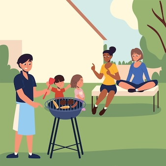 Backyard people party