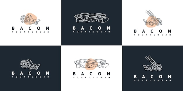 Bacon logo with line art for business reference