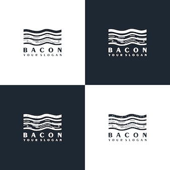 Bacon logo with minimalist line art for business reference