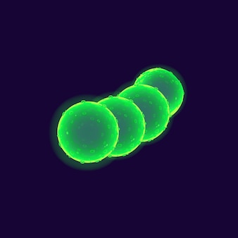 Bacteria cell realistic   illustration
