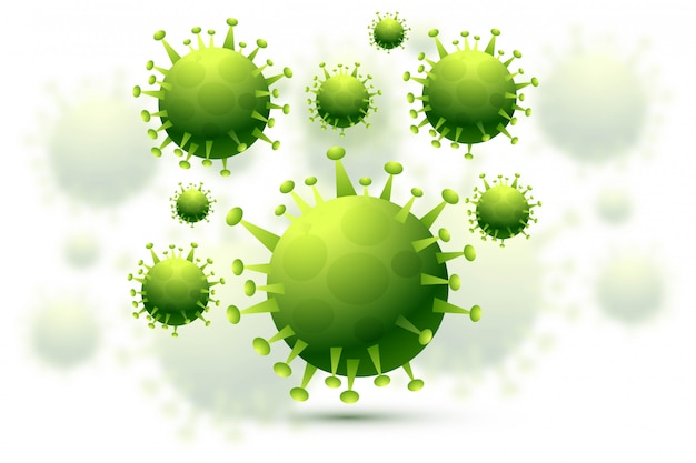 Bacteria or coronavirus infection flu background