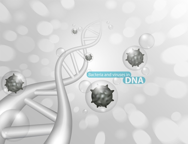 Bacteria and viruses in dna
