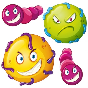 Bacteria with angry face