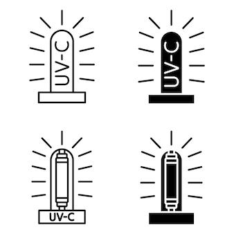 殺菌性uvランプ。家庭、診療所、病院用の医療用抗菌装置。紫外線消毒ランプ。効率的な電球。紫外線殺菌照射。 uv-c滅菌器。ベクター