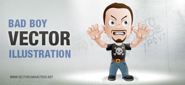 Bad boy vector character