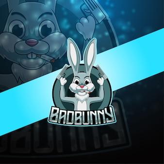 Bad bunny eスポーツマスコットロゴ