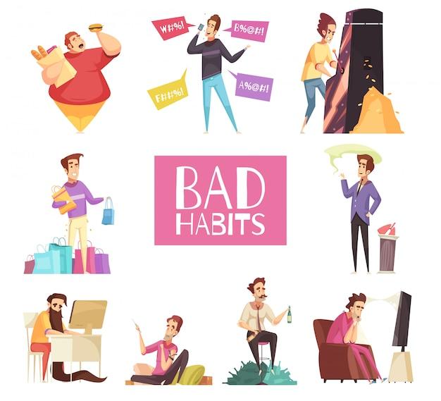 Set di cattive abitudini