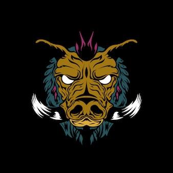 Bad hog illustration
