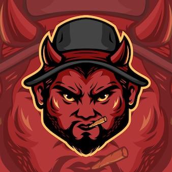 Плохая мафия дьявол иллюстрация
