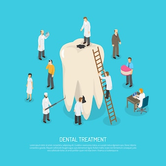 Bad tooth treatment illustration