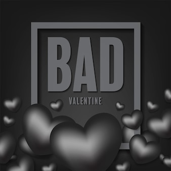 Bad valentine vector design